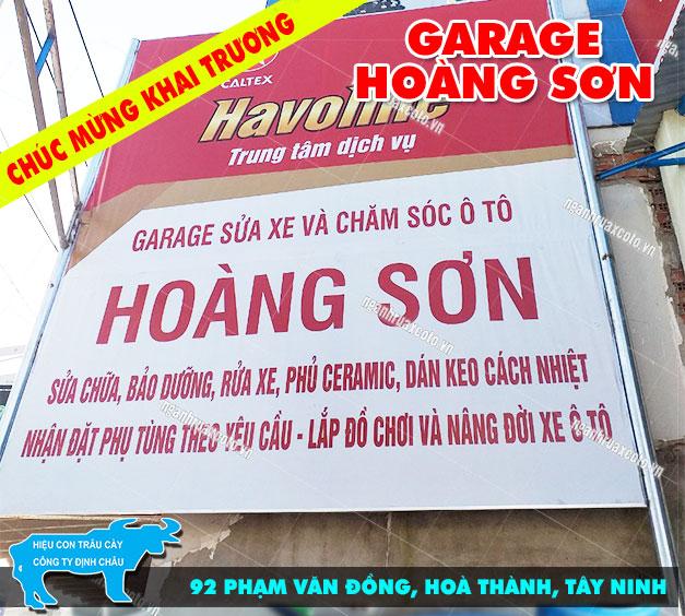 Khai Trương Garage Ô Tô Hoàng Sơn – Tây Ninh