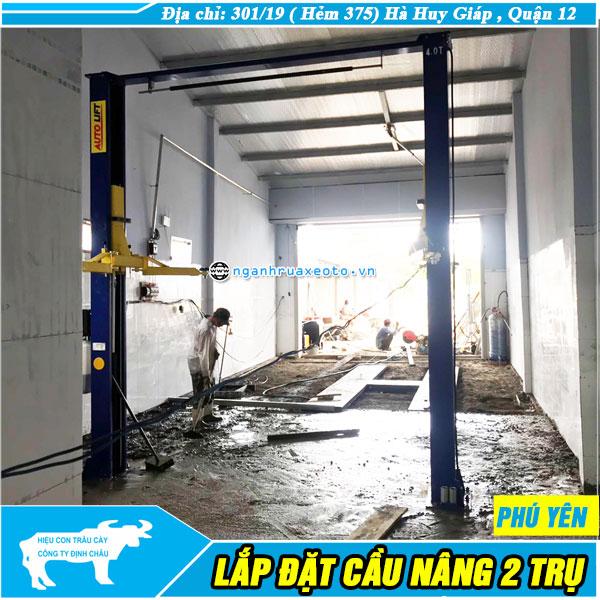Lắp đặt Cầu nâng rửa xe ô tô 1 trụ tại Phú Yên