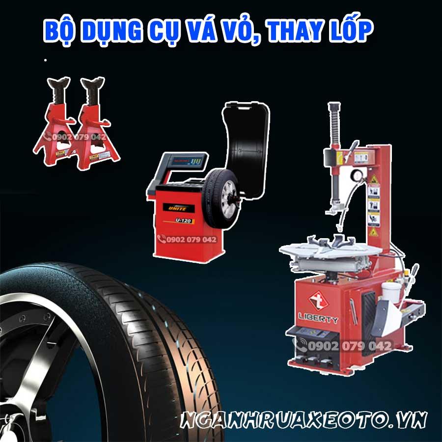 Trọn bộ thiết bị vá lốp ô tô